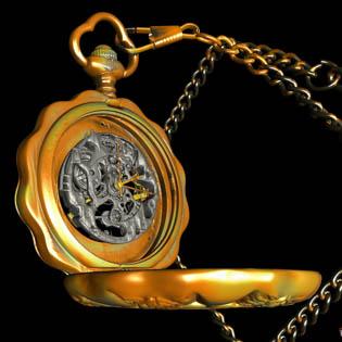 Historical Digital Archiving Pocket Watch